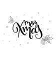 hand lettering christmas greetings text vector image vector image