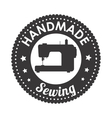 hand made sewing seal icon vector image