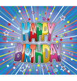 happy birthday greeting vector image