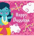 happy dussehra festival india celebration vector image vector image
