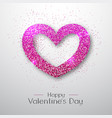 happy valentines day poster sparkle love heart vector image vector image