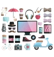 Hipster design elements set vector image