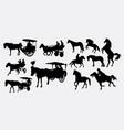 horse transportation vector image