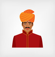 Indian man in traditional clothes vector image vector image