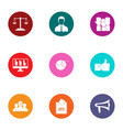 informed choice icons set flat style vector image