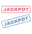 jackpot textile stamps vector image vector image