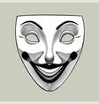 joker mask in retro style vector image vector image