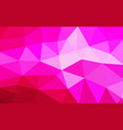 light red polygonal which consist triangles vector image