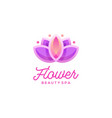 lotus flower logo design beauty spa logo template vector image vector image