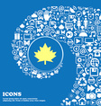 Maple leaf icon Nice set of beautiful icons vector image vector image