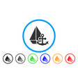 marine rounded icon vector image