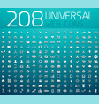 mega collection of 208 universal web icons vector image