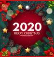 merry christmas and happy new 2020 year realistic vector image vector image