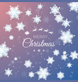 merry christmas greeting card paper snowflakes vector image vector image