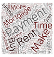 Mortgage Payments Vs Rent Payments text background vector image vector image