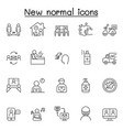 new normal icons set in thin line style vector image vector image