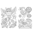 original black and white line drawing page of vector image vector image