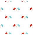 red and blue crossed flags pattern seamless vector image vector image