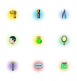 Salon icons set pop-art style vector image vector image