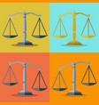 scale set in different positions vector image