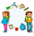 school collection vector image