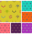 set hipster style seamless background vector image vector image