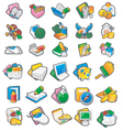 Set of cartoon icon 1 vector image vector image