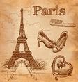 set of Paris symbols vector image vector image