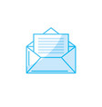 silhouette e-mail message to write and vector image vector image