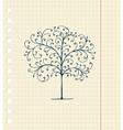 Sketch Floral Tree vector image vector image