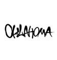 sprayed oklahoma font graffiti with overspray vector image