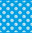sprout pattern seamless blue vector image vector image