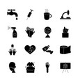syringe and coronavirus icon set silhouette style vector image vector image
