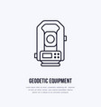 tacheometer geological survey engineering vector image vector image