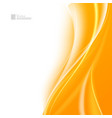 tender orange light abstract background vector image vector image