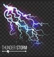 thunder storm lightning thunderbolt vector image