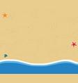 top view background of golden sandy beach in flat vector image vector image