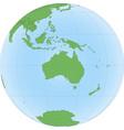 topographic map australia on globe vector image vector image