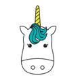 unicorn animal horn vector image