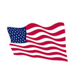 usa waving flag on white background vector image vector image