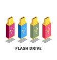 usb flash drive icon symbol vector image vector image