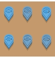 weather icons in isometric style vector image vector image
