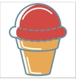 Ice cream line icons collection vector image