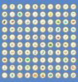 100 shipping icons set cartoon vector image vector image