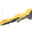 abstract art with brush stroke japanese wave vector image vector image