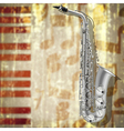 abstract Jazz music grunge background with silver vector image vector image