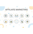 affiliate marketing trendy infographic template vector image vector image