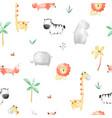 animals seamless pattern print design vector image