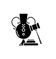 auction black icon sign on isolated vector image vector image