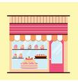 Bakery facade view vector image
